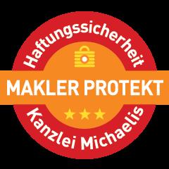 Siegel Impressum Makler Protekt Kanzlei Michaelis - Baidenger Finanzberatung - freier Finanzberater Versicherngsmakler Karlsruhe